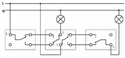 Схемы подключения трех